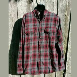 Faded Glory Flannel Plaid Button Front Shirt